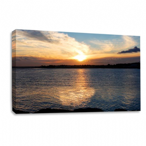 Sunset Landscape Canvas Wall Art Picture Lake Forest Print